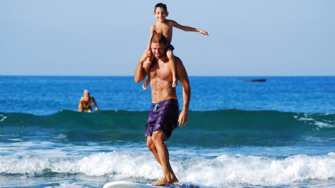 Surfen mit der Familie