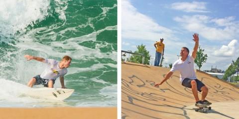 Mit Surfskatern den Backside Bottom Turn verbessern