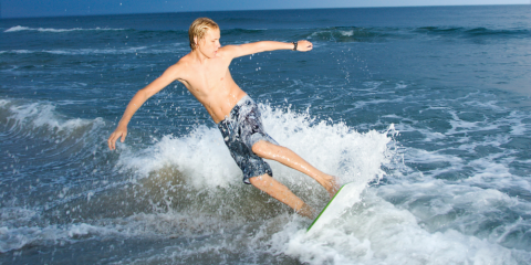 Noch eine Landlocked-Alternative: Skimboarding