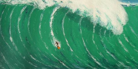 Tolle Surf-Kunst