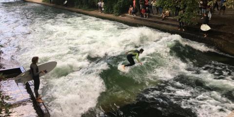 Riversurfing – Projekt Flusswelle in der Aach